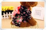 Pet Clothes Little Dogs Clothes Fashion Cute Special Clothing [Black Flowers]
