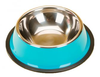 Dog Bowl Pet Supplies Cat Bowl Stainless Steel Dog Bowls Cat Food Bowls Blue