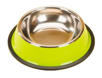 Dog Bowl Pet Supplies Cat Bowl Stainless Steel Dog Bowls Cat Food Bowls Green