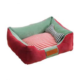 Detachable House Pet Mat Stylish Pet Bed Pet House Kennel,Pet Bolster Bed#B