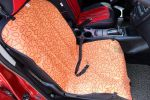"[Orange Clouds]Waterproof Solid Color Single Seat Dog Car Seat Cover (21""Wx41""L)"