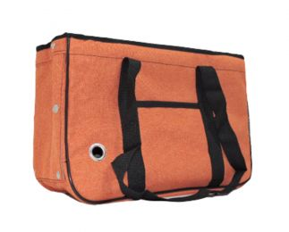 Pet Carrier Soft Sided Travel Bag for Small dogs & cats- Airline Approved, Orange #23