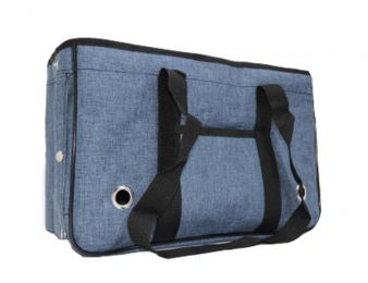 Pet Carrier Soft Sided Travel Bag for Small dogs & cats- Airline Approved, Blue #24