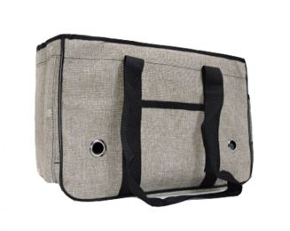 Pet Carrier Soft Sided Travel Bag for Small dogs & cats- Airline Approved, Grey