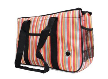 Pet Carrier Soft Sided Travel Bag for Small dogs & cats- Airline Approved, stripe