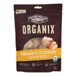 Castor and Pollux Organic Dog Cookies - Chicken - Case of 8 - 12 oz.