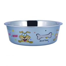 Multi Print Stainless Steel Dog Bowl By Boomer N Chaser-Set of 4