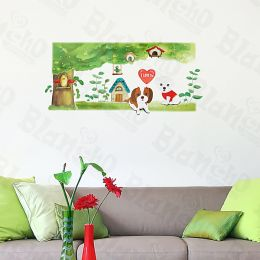 Lovely Dog - Large Wall Decals Stickers Appliques Home Decor