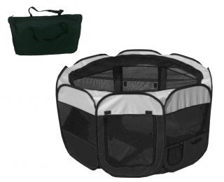 All-Terrain' Lightweight Easy Folding Wire-Framed Collapsible Travel Pet Playpen (Option: Medium)