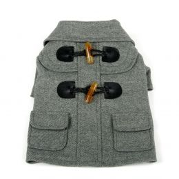 Military Static Rivited Fashion Collared Wool Pet Coat (Option: X-Small)