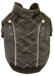 Wuff-Rider Fashion Suede Stitched Pet Coat (Option: X-Small)