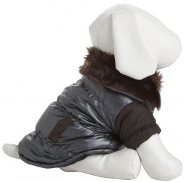 Ultra Fur 'Track-Collared' Metallic Pet Jacket (Option: X-Small)
