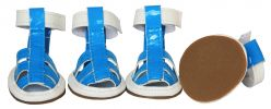 Buckle-Supportive Pvc Waterproof Pet Sandals Shoes - Set Of 4