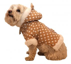 Polka-Dot Couture-Bow Pet Hoodie Sweater (Option: X-Small)