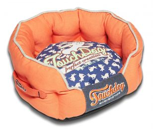 Touchdog Rabbit-Spotted Premium Rounded Dog Bed (Option: Medium)