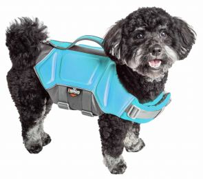 Dog Helios  'Tidal Guard' Multi-Point Strategically-Stitched Reflective Pet Dog Life Jacket Vest (Option: Small, Pink)