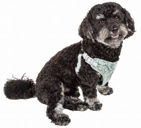 Pet Life  'Fidomite' Mesh Reversible And Breathable Adjustable Dog Harness W/ Designer Bowtie (Option: X-Small)