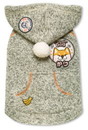 Touchdog Hippie Embellished Designer Sleeveless Pompom Pet Dog Hooded Sweater (Option: Size X-Small,Color Light Pink)