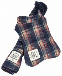 Touchdog  2-In-1 Tartan Plaided Dog Jacket With Matching Reversible Dog Mat (Option: X-Small, Red)